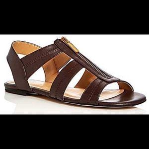 Michael Kors Berkley T-Strap Flat Sandal, Java
